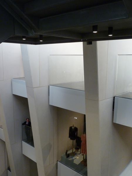 Looking from the stairs into the viewing balconies and side galleries